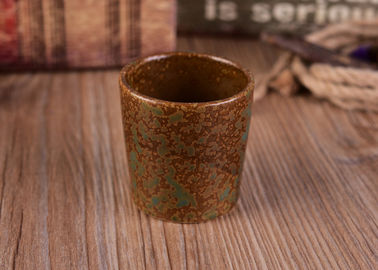 Copper Decorative Cup Ceramic Candlestick Holders With 200ml Capacity